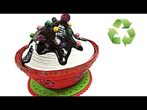 DIY: Caja cupcake. (((Regalo original))) - YouTube