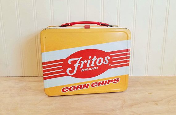 Vintage Fritos Lunch Box Fritos Corn Chips Lunch Box Thermos