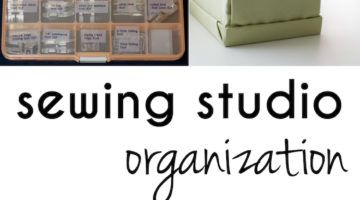 Dicas de organização do estúdio de costura