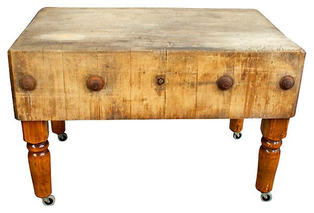 1940s commercial butcher block table