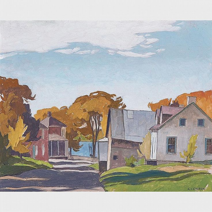 A.J. Casson - Carillon Quebec 12 x 15 Oil on panel (1966)