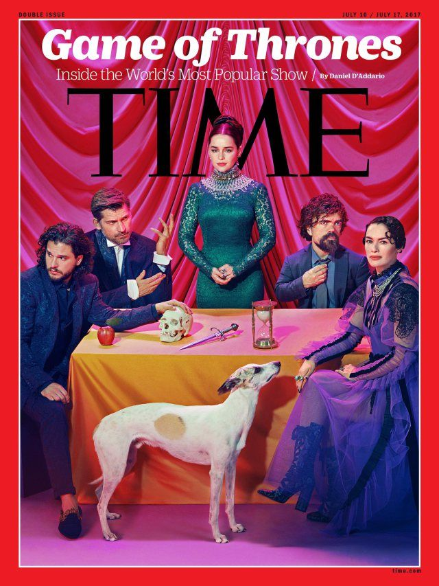 Time magazine, game of thrones. Kit Harington, Emilia Clarke, Lena Headley, Peter Dinklage