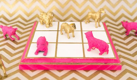 DIY Gilded Tic Tac Toe Set | Darby Smart | DIY Boardgame
