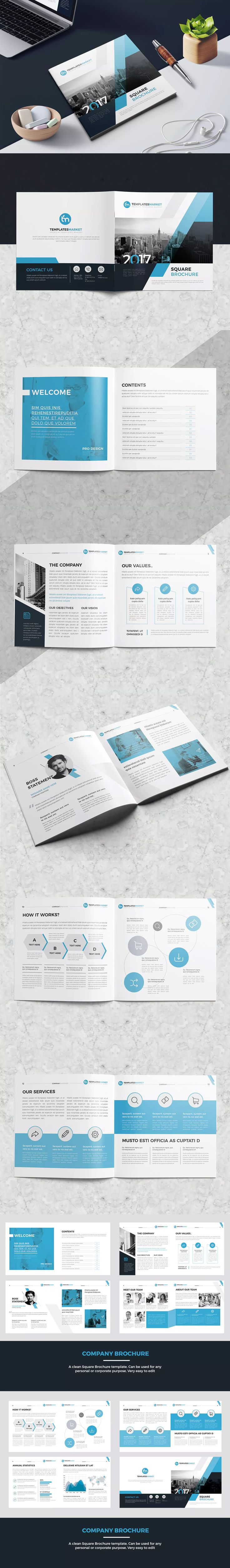 TM Square Company Profile Template InDesign INDD