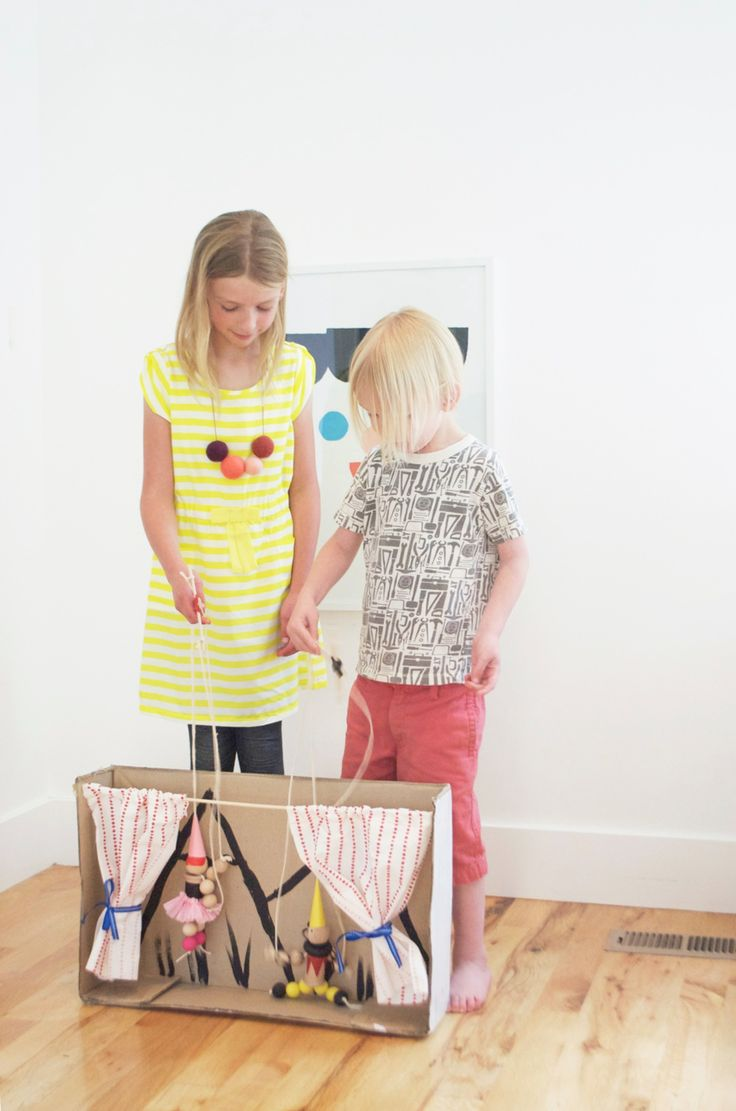 DIY marionettes and puppet theater | KIDS CRAFT Camp on atly.com