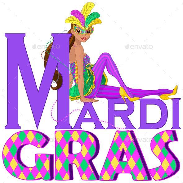 Mardi Gras Girl Design