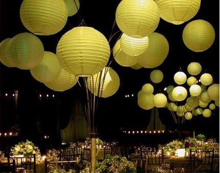 Wow lime wedding lanterns as table centre pieces - very unique!  Planning your dream wedding? www.imaginasianevents.com Twitter @imaginasiane