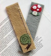 felt bookmarks, nice to use up scraps