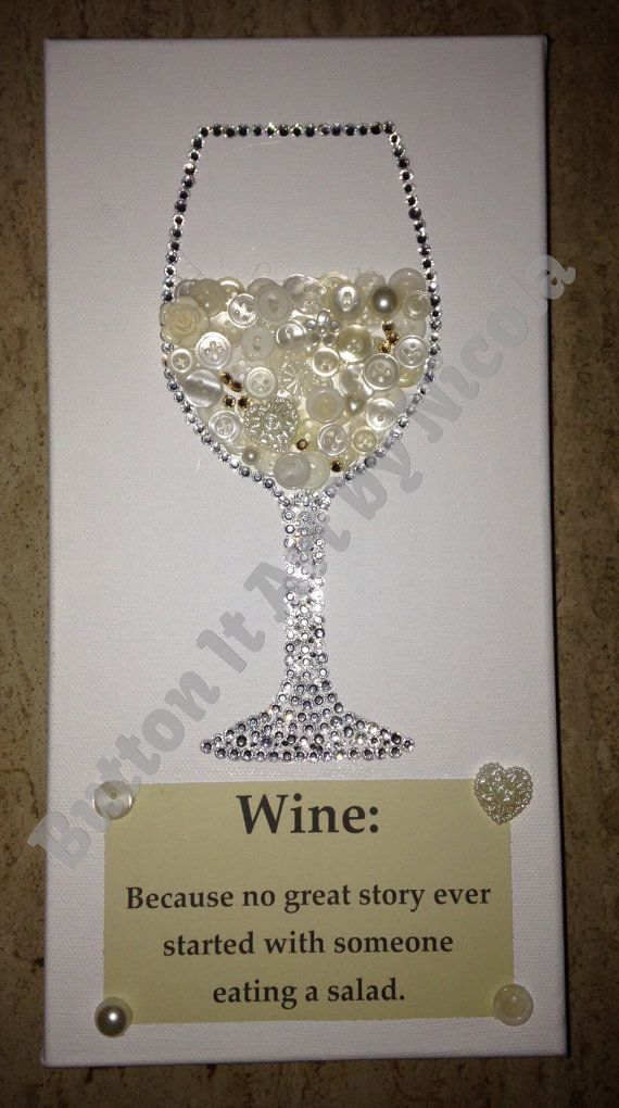White wine button art canvas                                                                                                                                                                                 More