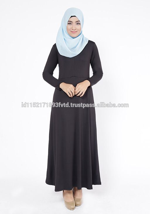 New Model Gamis Elzatta Gamia Edela (Nursing Wear) Black Hijab For he World