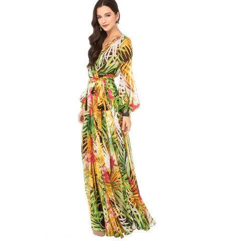 Floral Chiffon Maxi – Boho Buys