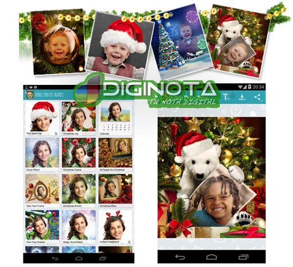 Una enorme colección de marcos y efectos de la foto de Navidad para dispositivos con Android  Navidad Pho.to Marcos es una aplicación gratuita para Android para crear estupendas tarjetas electrónicas personalizadas y compartirlas con tus amigos. ( Marcos de fotos y efectos de navidad )