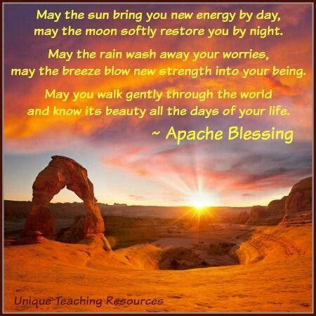 Apache Blessing (With images) Powerful words, Quotes, Words
