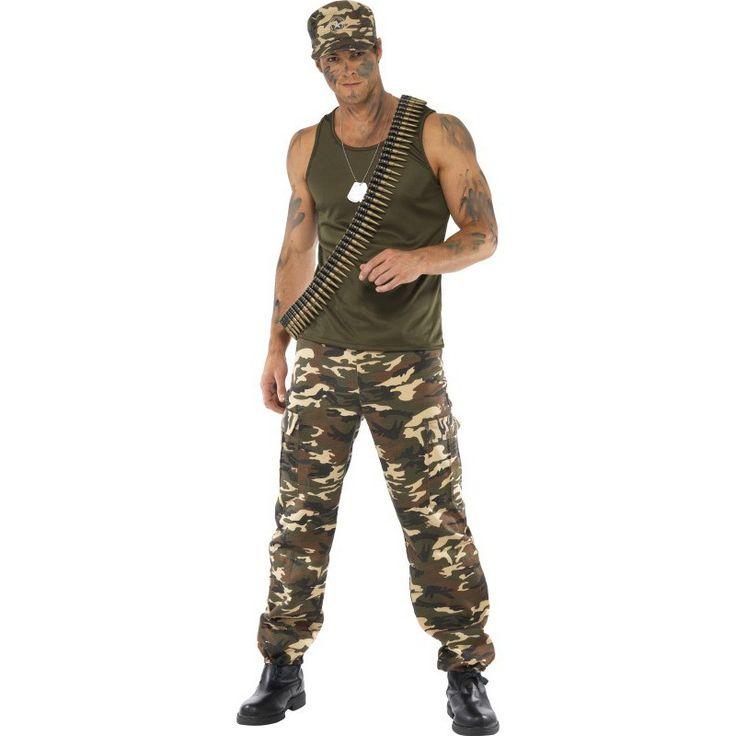 Disfraz de Militar para Hombre con Gorra | Comprar
