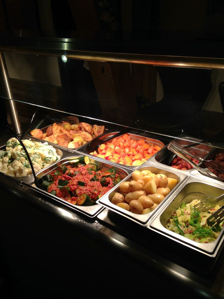 Sunday is carvery day at Boughton golf club. Here is some of the vegetables on offer.