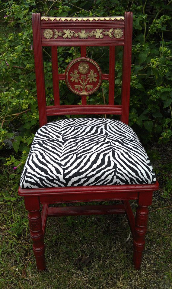 Vintage Asian Chair AntiqueRed Chair by RightUpMyAlleyDesign, $175.00 SOLD