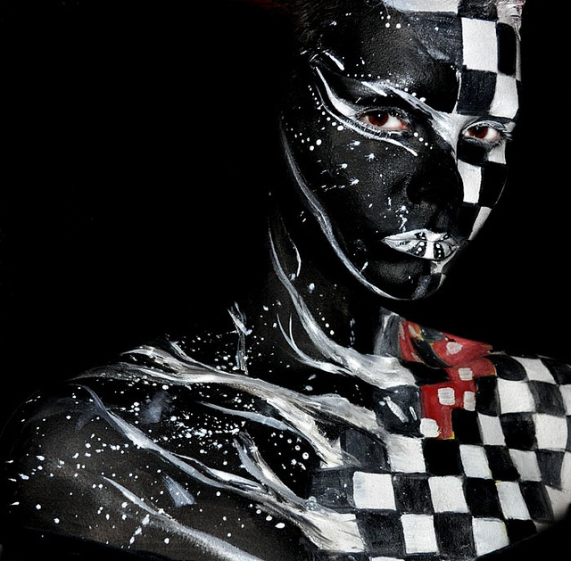Chequered body paint   (from Victoria Gugenheim)