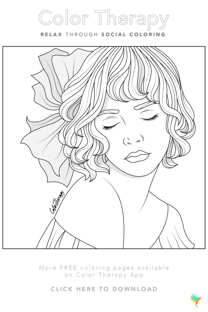 Color Therapy Gift Of The Day Free Coloring Template Cute Coloring Pages Coloring Book Art Coloring Pages