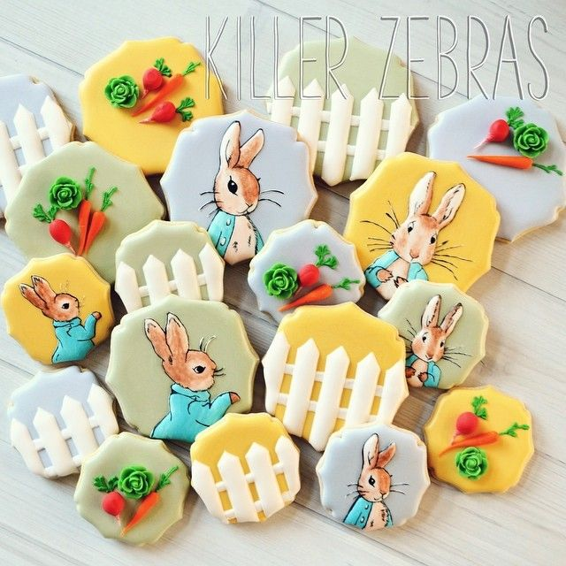 Peter Rabbit cookies for a baby shower | from killerzebras.com