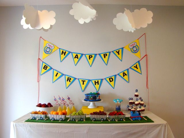 """Parent Question: """"Would love party food ideas for a 1 yr old boy (3 months away) Im doing a Thomas the Tank Engine theme. All input welcomed!! Ty in advance x"""""""