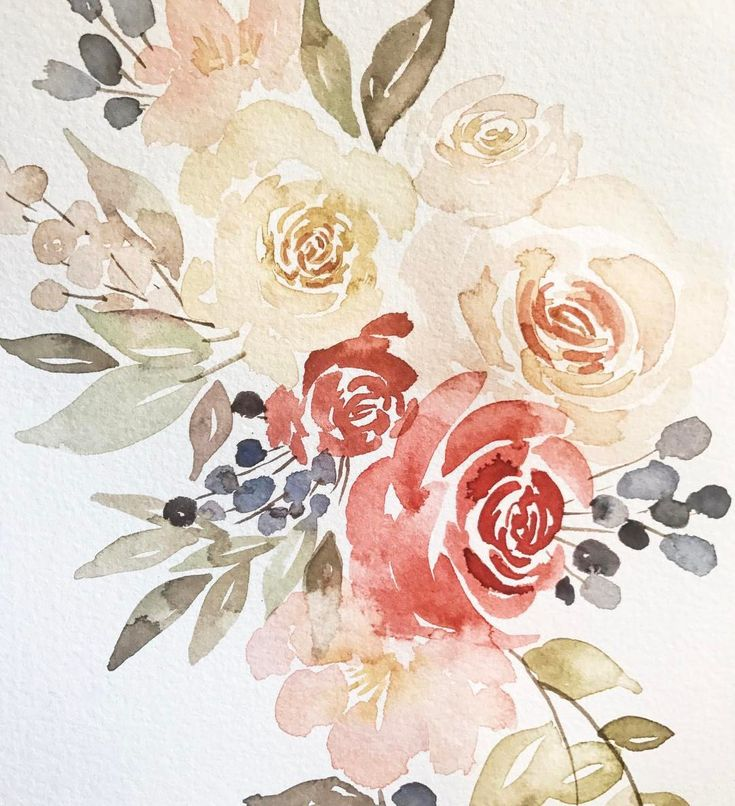 "41 mentions J'aime, 1 commentaires - Annie Bunker Mertlich (@wildfieldpaperco) sur Instagram : ""A little loose watercolor experimenting from yesterday! Definitely a different frame of mind when…"""