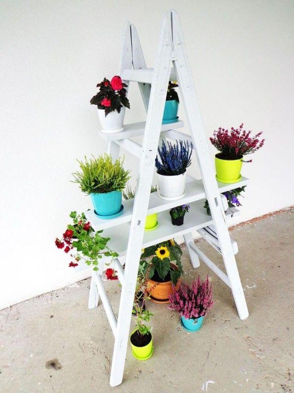 Las 25 mejores ideas sobre escalera tijera en pinterest y for Estanteria plantas interior