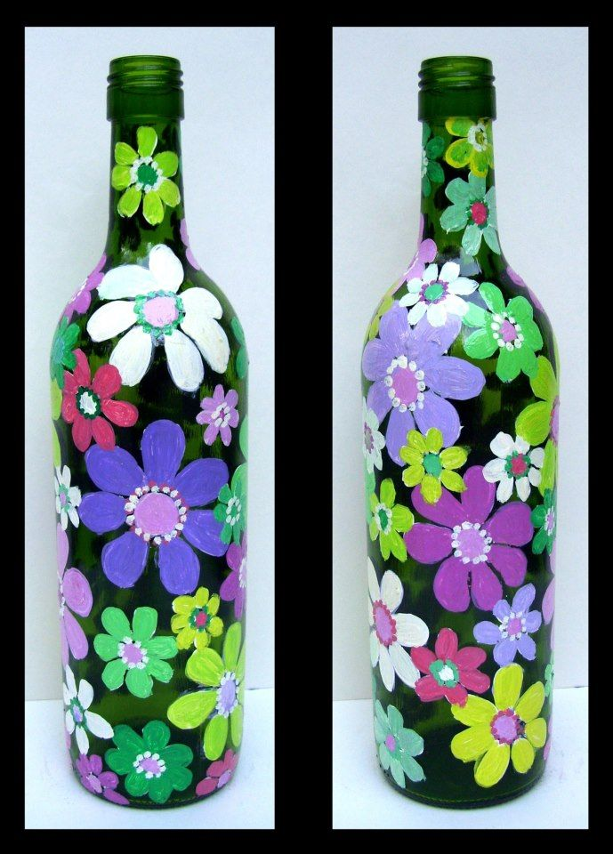 Bottle and Flowers