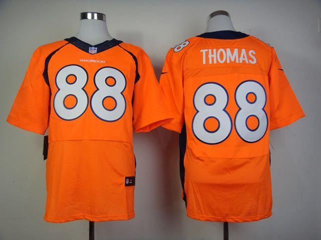 new elite jersey nike nfl jerseys denver broncos 88 thomas orange 2014 super bowl jerseys