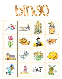 Plaatjes bingo | Thema NEDERLAND