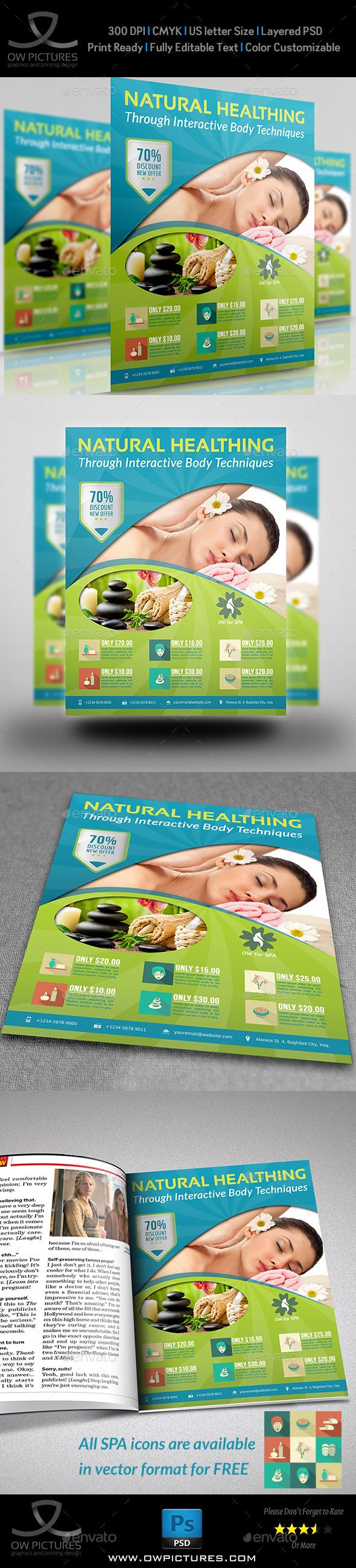SPA Beauty Flyer Template PSD | Buy and Download: http://graphicriver.net/item/spa-beauty-flyer-template/8961939?WT.ac=category_thumb&WT.z_author=omar_almudaries&ref=ksioks