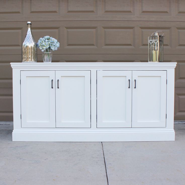 Today on the blog I'm sharing a DIY sideboard I built that is inspired by a RH sideboard and using the plans from Ana White & Shanty-2-chic