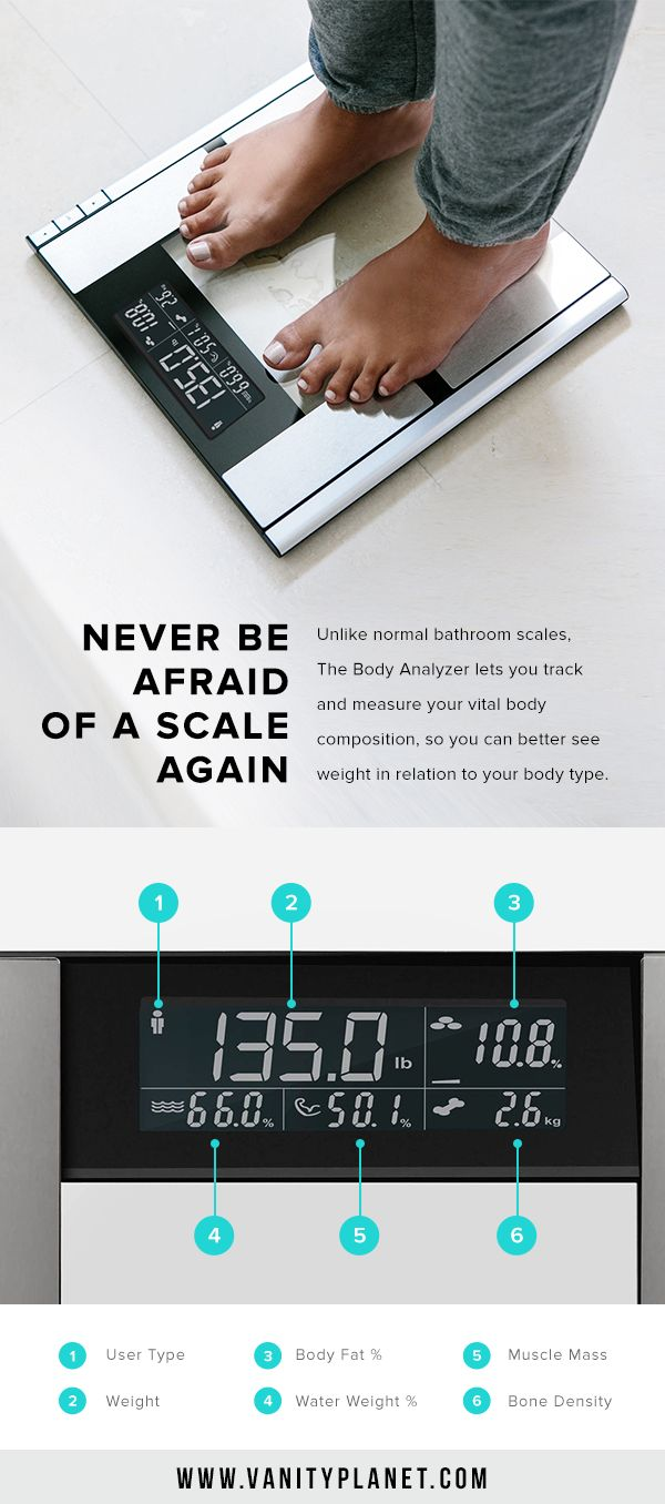 From body fat to bone mass, stay better connected with your body with the Body Analyzer! Shop Now!