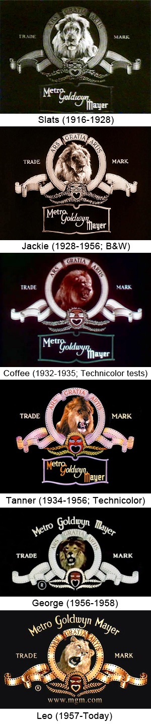 The Evolution of the Metro-Goldwyn-Mayer Lion