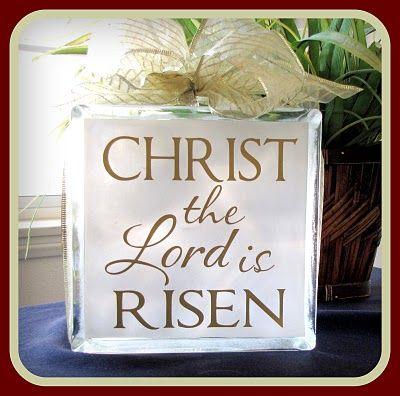 Easter glass block