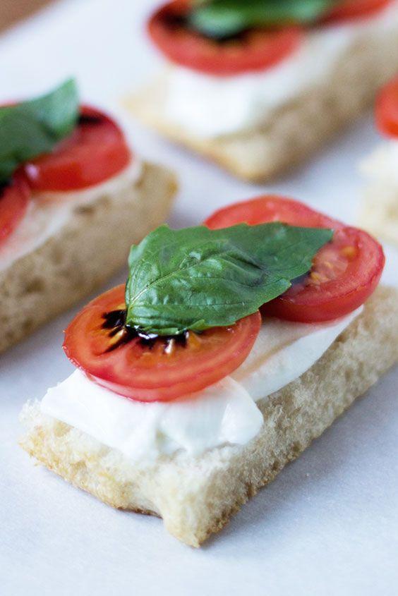 Tomato, Mozzarella, & Basil Tea Sandwich