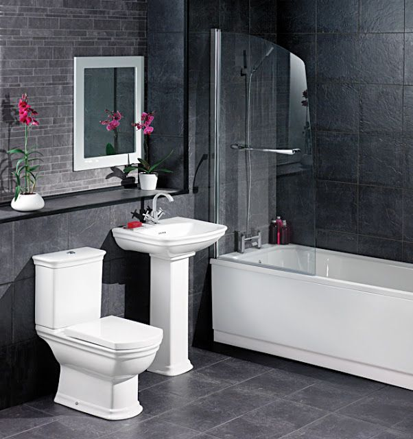 Black Grey Bathroom