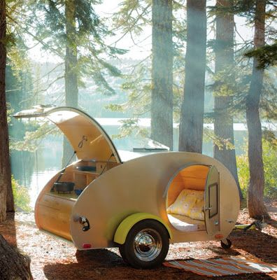 Teardrop trailer. If you're car-camping anyway, why not?