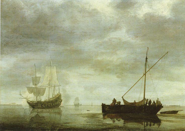Simon de Vlieger - Fregat geeft een saluutschot (1648)