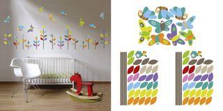 Balíček Motýlí louka COLOURFUL - zvýhodněný balíček samolepek na stěnu