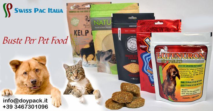Nutri il tuo animale domestico, il piccolo membro della famiglia. Le nostre Buste Per Pet Food che ti permettono di confezionare ogni tipo di cibo.