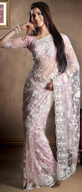 Light #Pink Net #Saree With #Blouse @ $605.43 | Shop Here: http://www.utsavfashion.com/store/sarees-large.aspx?icode=skk13435 #netsaree #snapdeal #India