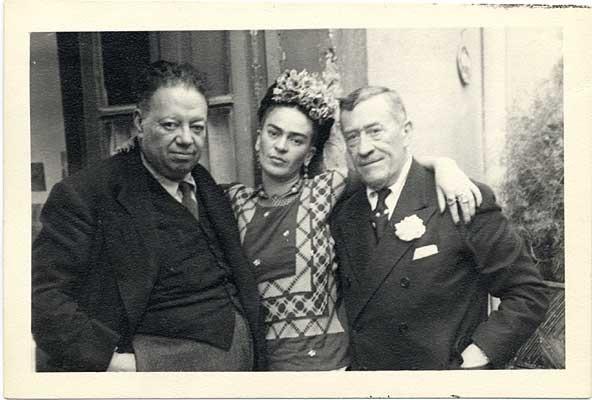 Diego, Frida and Leon Trotsky