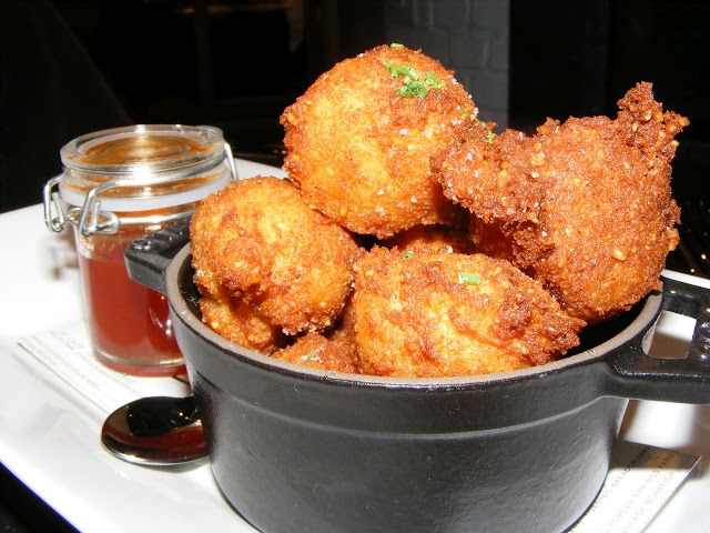 fritters at Wit & Wisdom in @Baltimore Maryland