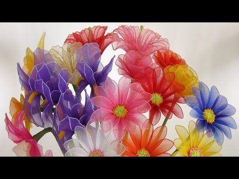 How To Make Nylon Flower - YouTube