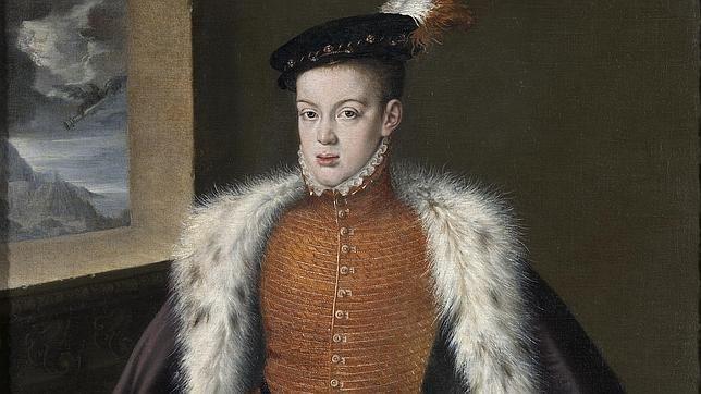 Príncipe Carlos. Único hijo varón de Felipe II. Murió enfermo de locura.