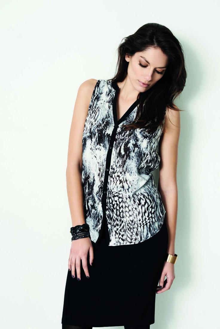 soyaconcept - top - blouse - skirt - print