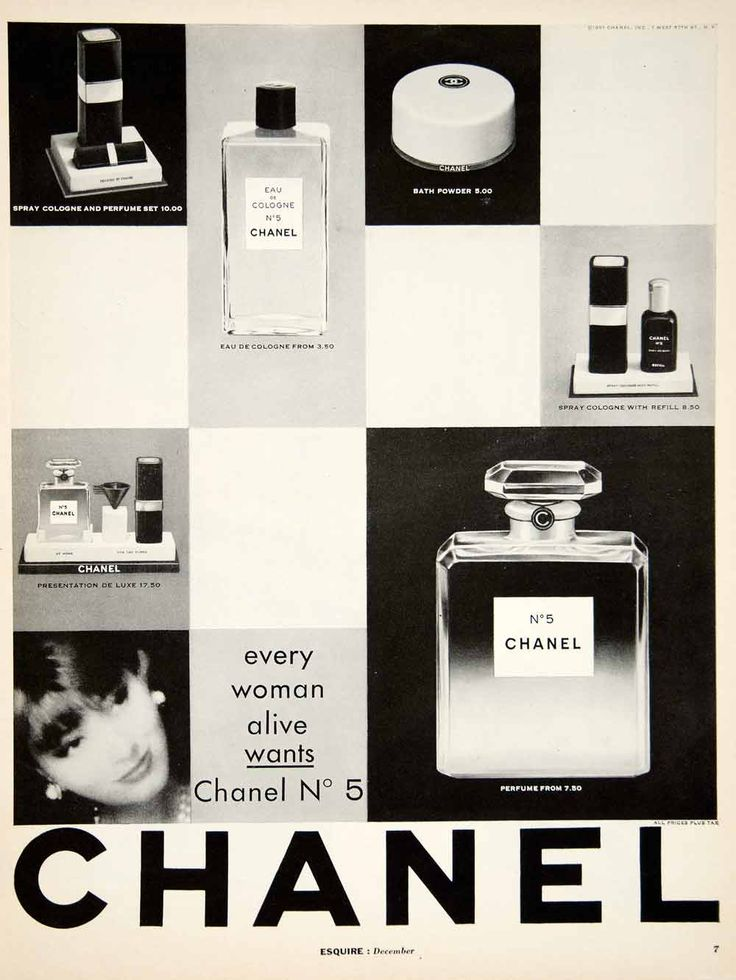 1961 ad vintage chanel no 5 perfume parfum eau de cologne. Black Bedroom Furniture Sets. Home Design Ideas