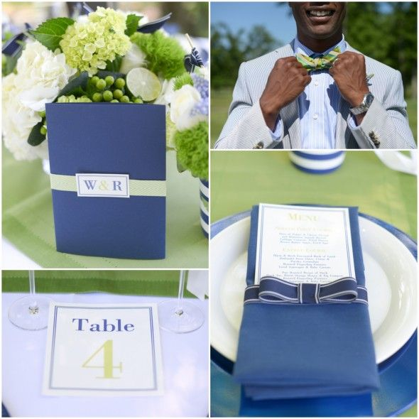 Blue & Green Preppy Wedding Inspiration - Preppy Wedding Style