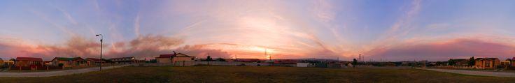 Smokey Sunset - Port Elizabeth South Africa [OC][21116x3430]
