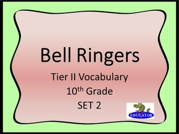 Bellringers - Tier Two Vocabulary in Context 2